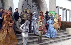 Corrida de estátuas